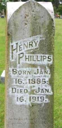 PHILLIPS, HENRY - Marion County, Arkansas   HENRY PHILLIPS - Arkansas Gravestone Photos
