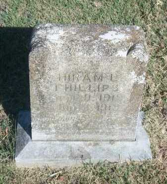 PHILLIPS, HIRAM L. - Marion County, Arkansas | HIRAM L. PHILLIPS - Arkansas Gravestone Photos