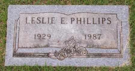 PHILLIPS, LESLIE E. - Marion County, Arkansas | LESLIE E. PHILLIPS - Arkansas Gravestone Photos