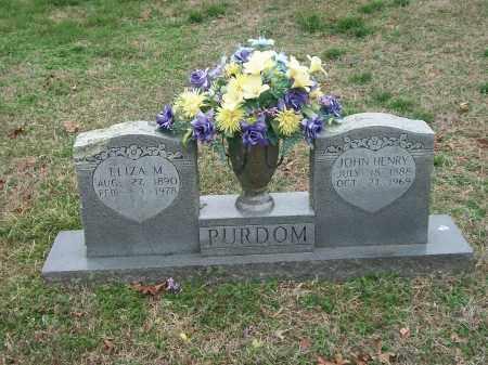 YOCHAM PURDOM, ELIZA M. - Marion County, Arkansas | ELIZA M. YOCHAM PURDOM - Arkansas Gravestone Photos