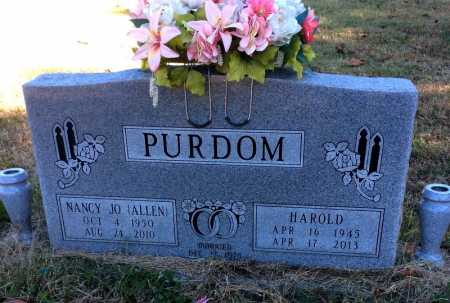 PURDOM, HAROLD - Marion County, Arkansas | HAROLD PURDOM - Arkansas Gravestone Photos
