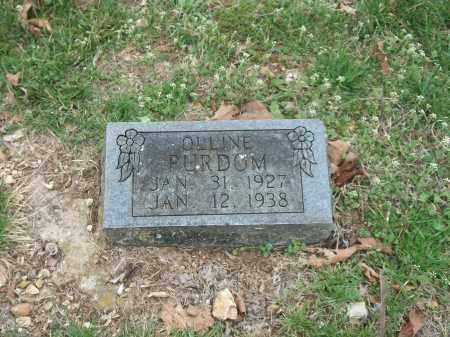 PURDOM, OLLINE - Marion County, Arkansas   OLLINE PURDOM - Arkansas Gravestone Photos
