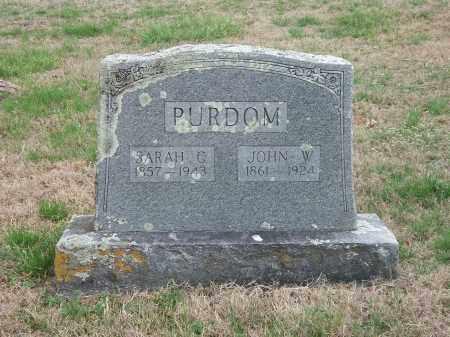 PURDOM, SARAH G. - Marion County, Arkansas | SARAH G. PURDOM - Arkansas Gravestone Photos