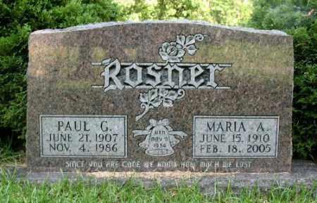 ROSNER, MARIA A. - Marion County, Arkansas   MARIA A. ROSNER - Arkansas Gravestone Photos