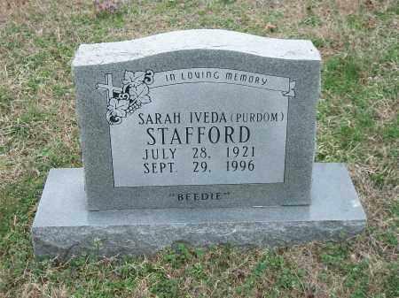 STAFFORD, SARAH IVEDA - Marion County, Arkansas | SARAH IVEDA STAFFORD - Arkansas Gravestone Photos