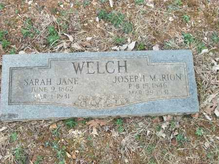 WELCH, JOSEPH MARION - Marion County, Arkansas | JOSEPH MARION WELCH - Arkansas Gravestone Photos
