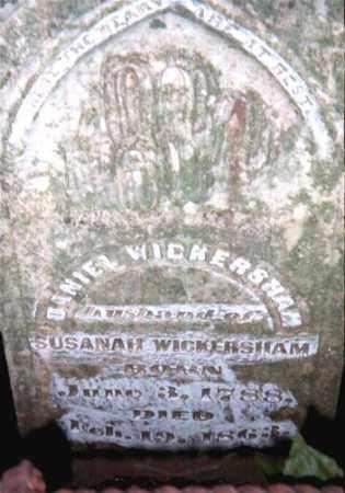 WICKERSHAM, DANIEL BOONE - Marion County, Arkansas | DANIEL BOONE WICKERSHAM - Arkansas Gravestone Photos