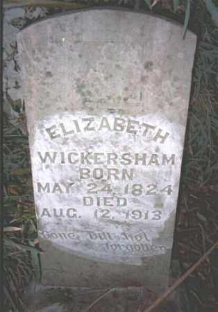 DOSHIER WICKERSHAM, ELIZABETH - Marion County, Arkansas | ELIZABETH DOSHIER WICKERSHAM - Arkansas Gravestone Photos