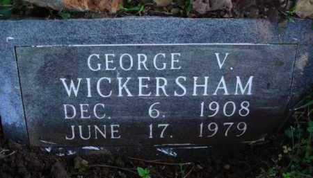 WICKERSHAM, GEORGE V. - Marion County, Arkansas   GEORGE V. WICKERSHAM - Arkansas Gravestone Photos