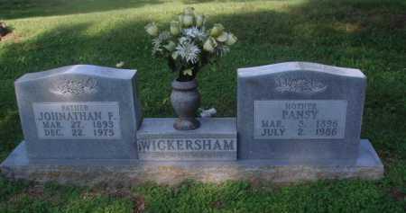 BENNETT WICKERSHAM, PANSY - Marion County, Arkansas | PANSY BENNETT WICKERSHAM - Arkansas Gravestone Photos