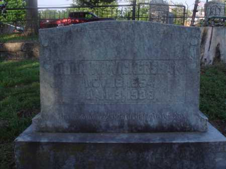 WICKERSHAM, JOHN W. - Marion County, Arkansas   JOHN W. WICKERSHAM - Arkansas Gravestone Photos