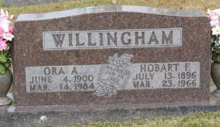 WILLINGHAM, ORA - Marion County, Arkansas   ORA WILLINGHAM - Arkansas Gravestone Photos