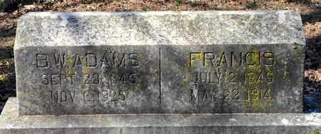 ADAMS, B W - Miller County, Arkansas | B W ADAMS - Arkansas Gravestone Photos