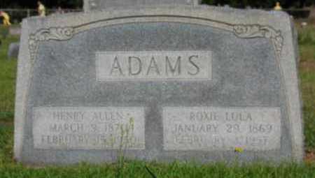 ADAMS, HENRY ALLEN - Miller County, Arkansas | HENRY ALLEN ADAMS - Arkansas Gravestone Photos