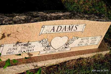 ADAMS, MITTIE JANE - Miller County, Arkansas | MITTIE JANE ADAMS - Arkansas Gravestone Photos