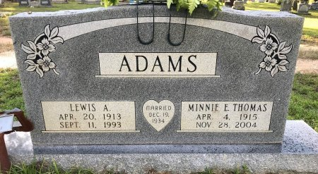 ADAMS, MINNIE E - Miller County, Arkansas   MINNIE E ADAMS - Arkansas Gravestone Photos