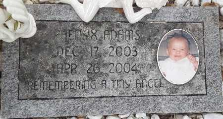 ADAMS, PHENYX - Miller County, Arkansas | PHENYX ADAMS - Arkansas Gravestone Photos