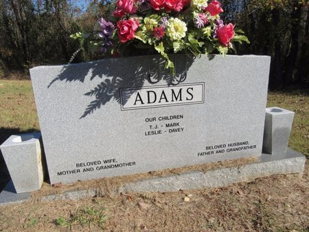 ADAMS, THERSTIAN J (BACKVIEW) - Miller County, Arkansas | THERSTIAN J (BACKVIEW) ADAMS - Arkansas Gravestone Photos