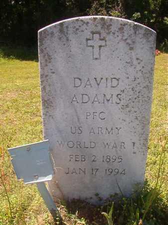ADAMS (VETERAN WWI), DAVID - Miller County, Arkansas   DAVID ADAMS (VETERAN WWI) - Arkansas Gravestone Photos