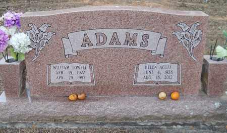 ADAMS, WILLIAM LOWELL - Miller County, Arkansas | WILLIAM LOWELL ADAMS - Arkansas Gravestone Photos