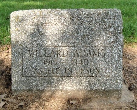 ADAMS, WILLARD - Miller County, Arkansas   WILLARD ADAMS - Arkansas Gravestone Photos