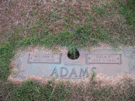 ADAMS, WILLIAM B - Miller County, Arkansas | WILLIAM B ADAMS - Arkansas Gravestone Photos