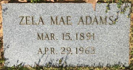 ADAMS, ZELA MAE - Miller County, Arkansas   ZELA MAE ADAMS - Arkansas Gravestone Photos