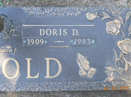 ARNOLD, DORIS D (CLOSE UP) - Miller County, Arkansas | DORIS D (CLOSE UP) ARNOLD - Arkansas Gravestone Photos