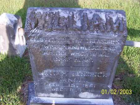 ARNOLD, WILLIAM HENDRICK - Miller County, Arkansas   WILLIAM HENDRICK ARNOLD - Arkansas Gravestone Photos