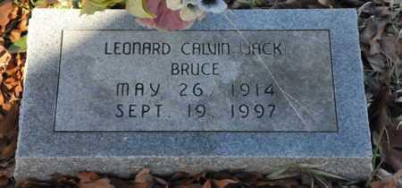 BRUCE, LEONARD CALVIN (JACK) - Miller County, Arkansas | LEONARD CALVIN (JACK) BRUCE - Arkansas Gravestone Photos