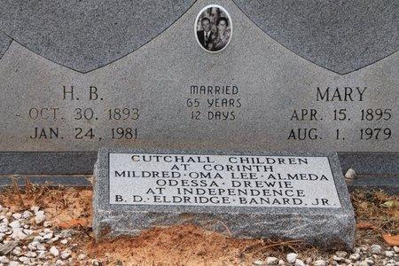 CUTCHALL, H.B.  (CLOSE UP) - Miller County, Arkansas | H.B.  (CLOSE UP) CUTCHALL - Arkansas Gravestone Photos