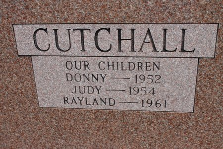CUTCHALL, BILLY RAY  (BACK OF STONE) - Miller County, Arkansas   BILLY RAY  (BACK OF STONE) CUTCHALL - Arkansas Gravestone Photos