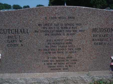 CUTCHALL, JANE ETHEL  (BACK OF STONE) - Miller County, Arkansas | JANE ETHEL  (BACK OF STONE) CUTCHALL - Arkansas Gravestone Photos