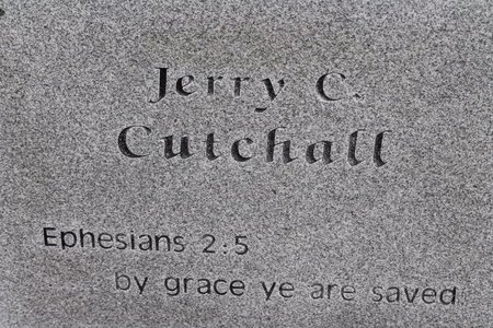 CUTCHALL, JERRY C.  (BACK OF STONE) - Miller County, Arkansas | JERRY C.  (BACK OF STONE) CUTCHALL - Arkansas Gravestone Photos