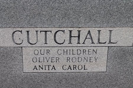 CUTCHALL, OLIVER A.  (BACK OF STONE) - Miller County, Arkansas | OLIVER A.  (BACK OF STONE) CUTCHALL - Arkansas Gravestone Photos