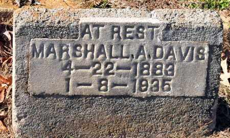 DAVIS, MARSHALL A - Miller County, Arkansas   MARSHALL A DAVIS - Arkansas Gravestone Photos