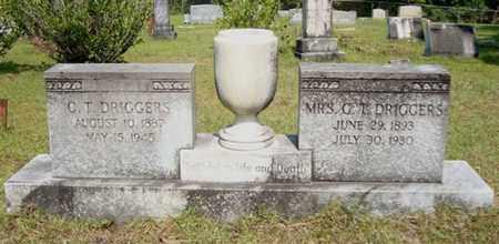 DRIGGERS, C T, MRS - Miller County, Arkansas   C T, MRS DRIGGERS - Arkansas Gravestone Photos