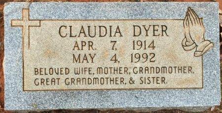 DYER, CLAUDIA - Miller County, Arkansas | CLAUDIA DYER - Arkansas Gravestone Photos