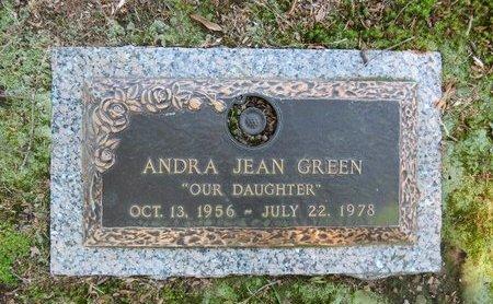 GREEN, ANDRA JEAN - Miller County, Arkansas   ANDRA JEAN GREEN - Arkansas Gravestone Photos