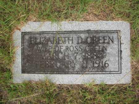 GREEN, ELIZABETH D - Miller County, Arkansas | ELIZABETH D GREEN - Arkansas Gravestone Photos