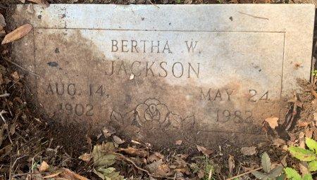 JACKSON, BERTHA W - Miller County, Arkansas | BERTHA W JACKSON - Arkansas Gravestone Photos