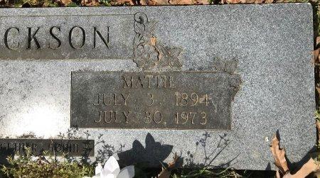 JACKSON, MATTIE (CLOSEUP) - Miller County, Arkansas   MATTIE (CLOSEUP) JACKSON - Arkansas Gravestone Photos