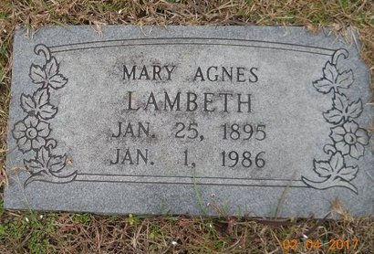 CASSIDY LAMBETH, MARY AGNES - Miller County, Arkansas | MARY AGNES CASSIDY LAMBETH - Arkansas Gravestone Photos