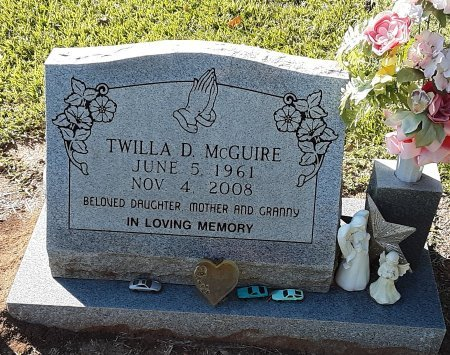 MCGUIRE, TWILLA D - Miller County, Arkansas | TWILLA D MCGUIRE - Arkansas Gravestone Photos
