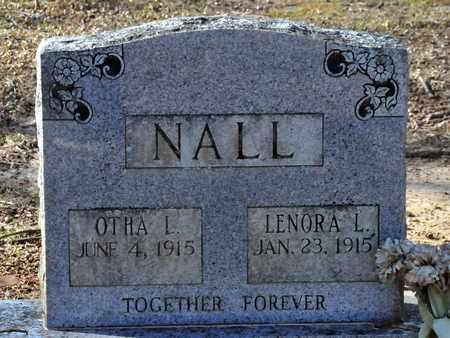NALL, LENORA L - Miller County, Arkansas | LENORA L NALL - Arkansas Gravestone Photos