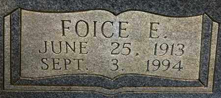 NALL, FOICE E (CLOSE UP) - Miller County, Arkansas | FOICE E (CLOSE UP) NALL - Arkansas Gravestone Photos