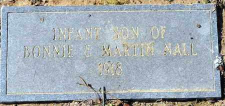 NALL, INFANT SON - Miller County, Arkansas | INFANT SON NALL - Arkansas Gravestone Photos