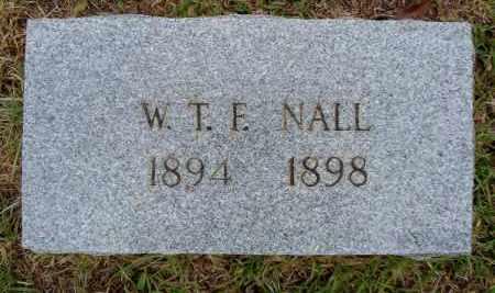 NALL, W T F - Miller County, Arkansas | W T F NALL - Arkansas Gravestone Photos