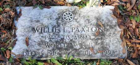 PAXTON (VETERAN WWII), WILLIE L - Miller County, Arkansas | WILLIE L PAXTON (VETERAN WWII) - Arkansas Gravestone Photos