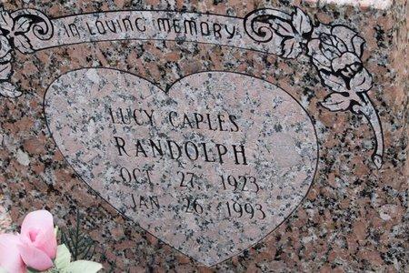 CAPLES RANDOLPH, LUCY - Miller County, Arkansas | LUCY CAPLES RANDOLPH - Arkansas Gravestone Photos